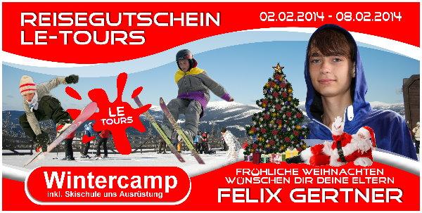 LE-Tours Reisegutschein zu Weihnachten