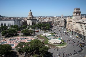 Barcelona. Plaza de Catalu–a