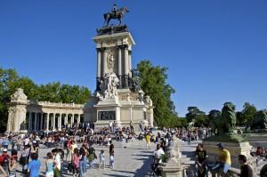 Madrid. Parque del Retiro - Monumento a Alfonso XII