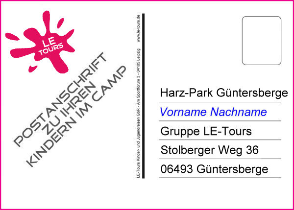 Anschrift-Postkarte_Ferienlager-Harz-Park_LE-Tours2019