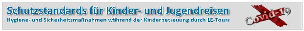 Banner Schutzstandards LE-Tours
