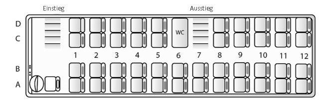 Sitzplan Bus